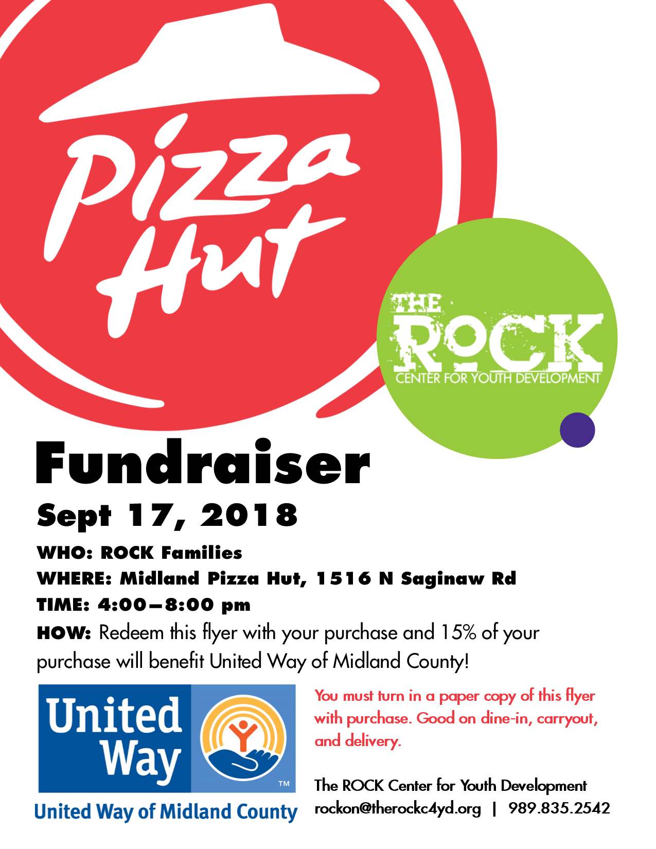 pizza hut fundraiser the rock c4yd rh therockc4yd org